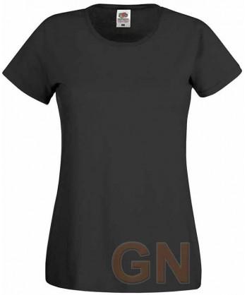 Camiseta manga corta de Fruit of the Loom para mujer Color negro