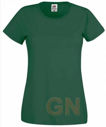 Camiseta manga corta de Fruit of the Loom para mujer Color verde botella
