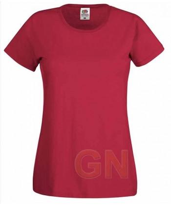 Camiseta manga corta de Fruit of the Loom para mujer Color rojo oscuro
