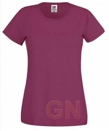 Camiseta manga corta de Fruit of the Loom para mujer Color burdeos