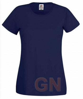 Camiseta manga corta de Fruit of the Loom para mujer Color marino