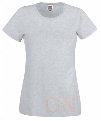 Camiseta manga corta de Fruit of the Loom para mujer Color gris heather