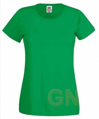 Camiseta manga corta de Fruit of the Loom para mujer Color verde kelly