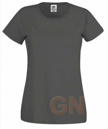 Camiseta manga corta de Fruit of the Loom para mujer Color gris oscuro