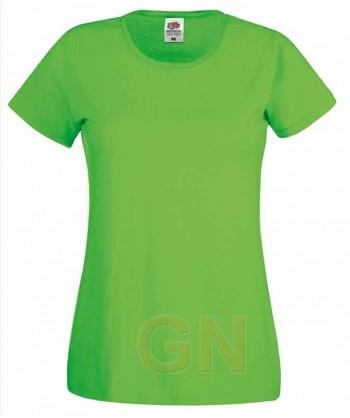 Camiseta manga corta de Fruit of the Loom para mujer Color verde lima