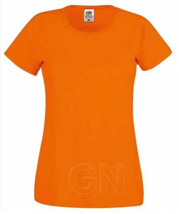 Camiseta manga corta de Fruit of the Loom para mujer Color naranja