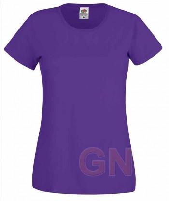 Camiseta manga corta de Fruit of the Loom para mujer Color púrpura