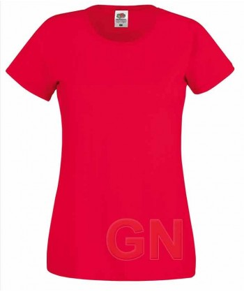 Camiseta manga corta de Fruit of the Loom para mujer Color rojo