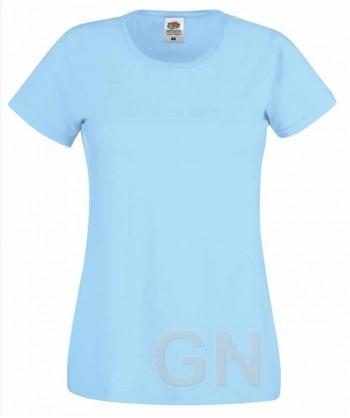 Camiseta manga corta de Fruit of the Loom para mujer Color celeste