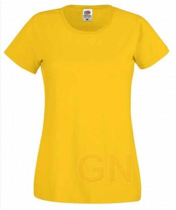 Camiseta manga corta de Fruit of the Loom para mujer Color girasol
