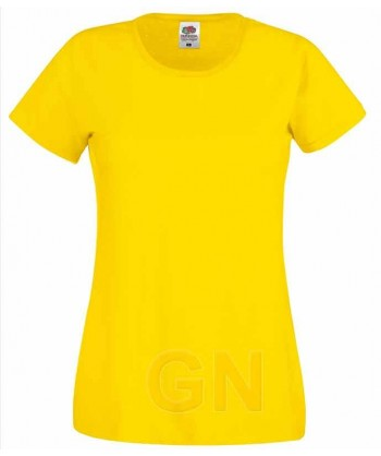 Camiseta manga corta de Fruit of the Loom para mujer Color amarillo