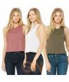 Camiseta de tirantes para mujer estilo cropped en la espalda