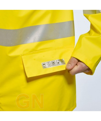 Chubasquero ignífugo, antiestático con protección química