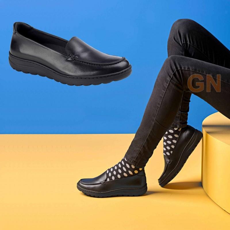 Zapato mocasin de señora para hostelería y uniformidad