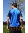 Camiseta transpirable de manga corta y cuello redondo