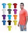Camiseta deportiva transpirable de manga corta y cuello redondo