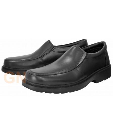 Zapato mocasín unisex en piel para uniformidad y hostelería