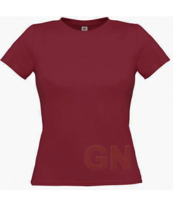 Camiseta manga corta para mujer Color burdeos
