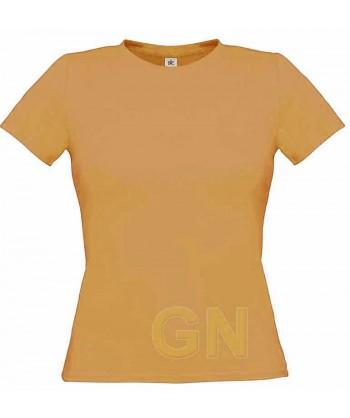 Camiseta manga corta para mujer Color melocotón
