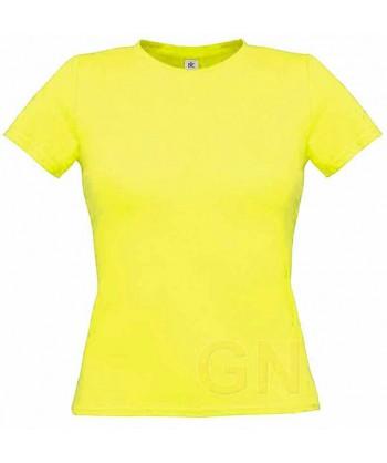 Camiseta manga corta para mujer Color amarillo