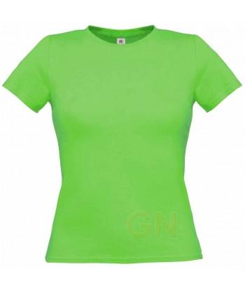 Camiseta manga corta para mujer Color verde kelly