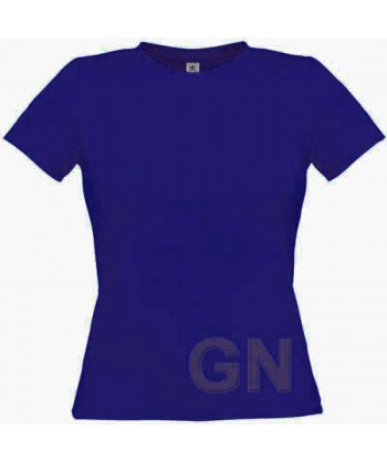 Camiseta manga corta para mujer Color azul cobalto