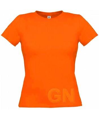 Camiseta manga corta para mujer Color naranja