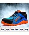 Zapato S1P modelo Practice de Sparco Azul/naranja fluor