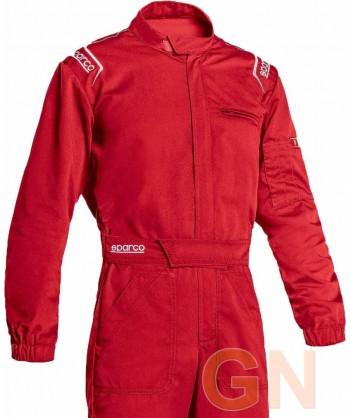 Buzo Sparco MS-3 para mecánico y pilotos de carreras rojo