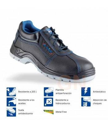 Zapatos de seguridad no metálicos para mujer S3 SRC WRU E A