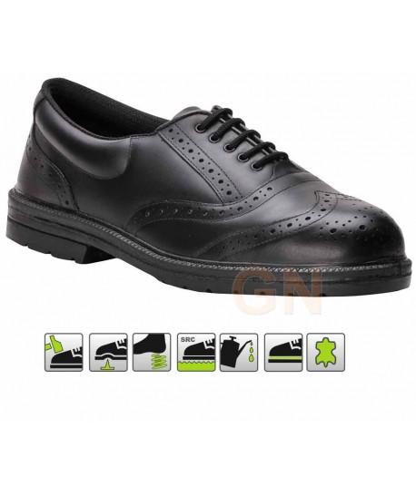 zapato de seguridad alta gama color negro