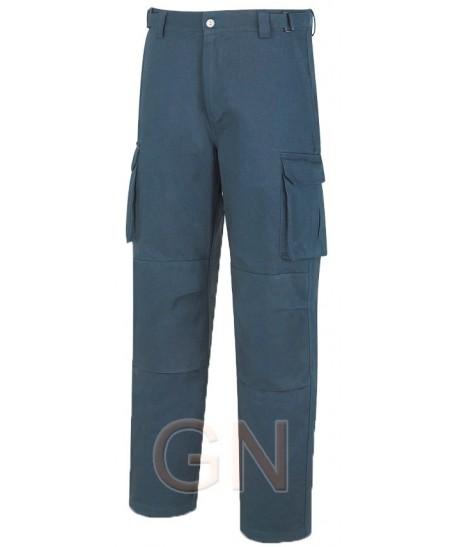 Pantalón multibolsillos algodón con refuerzos y forro de franela