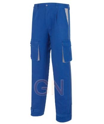 Pantalones gruesos multibolsillos de algodón con refuerzos combinados