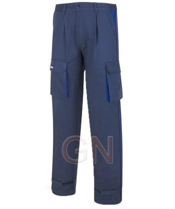 Pantalones gruesos multibolsillos de algodón con refuerzos