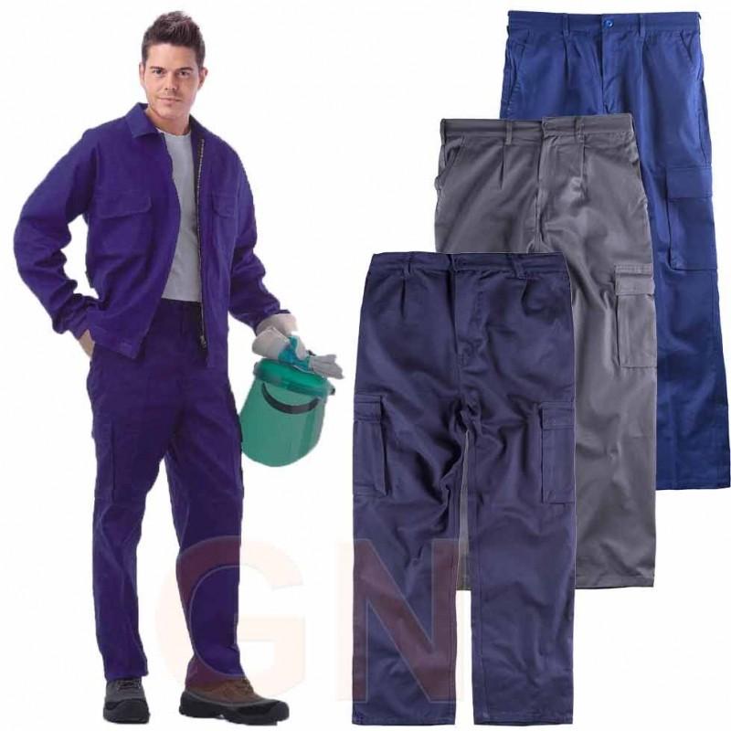 Pantalón multibolsillos ligero de algodón