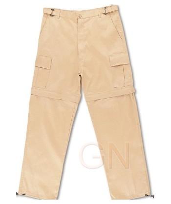 Pantalón desmontable de algodón beige