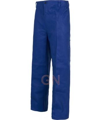 pantalón multibolsillos de algodón muy grueso azulina