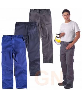 pantalón multibolsillos de algodón muy grueso