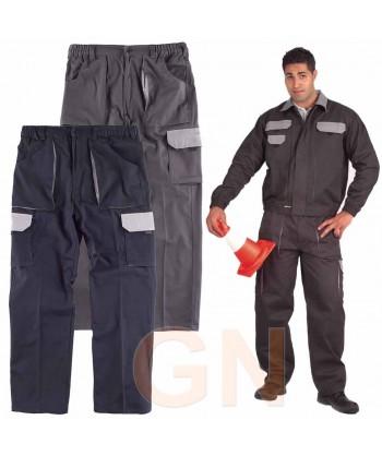 Pantalón combinado de algodón multibolsillos muy fuerte con refuerzos