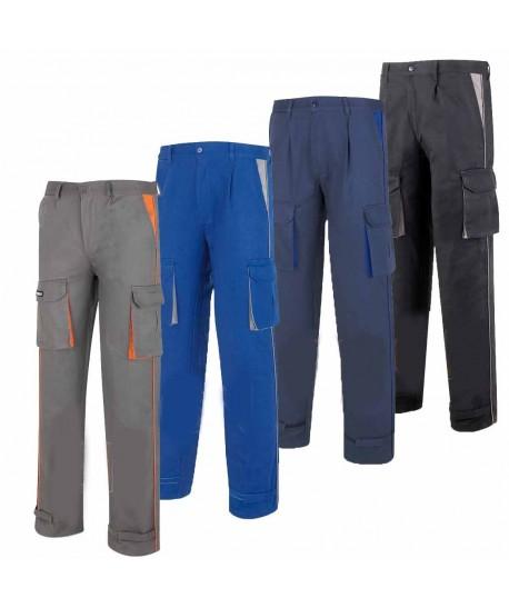 Pantalones gruesos de algodón de algodón con refuerzos y multibolsillos