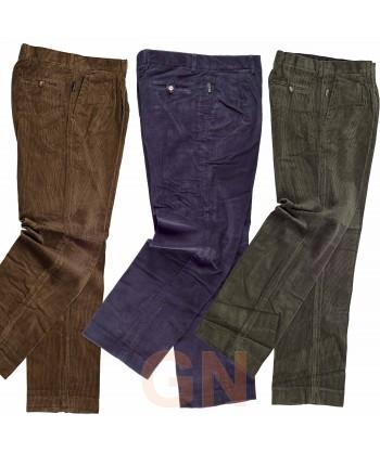 Pantalón de pana de algodón grueso con pinzas