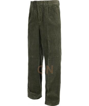 Pantalón de algodón de pana multibolsillos color kaki