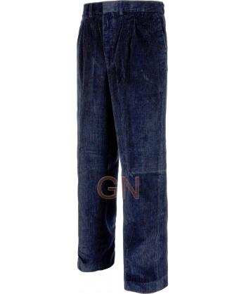Pantalón de algodón de pana multibolsillos azul marino