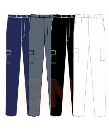 Pantalón de algodón bielástico multibolsillos -Mujer-
