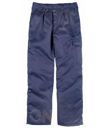 Pantalón multibolsillos acolchado para industria alimentaria y frío intenso