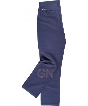 Pantalón tipo chino tejido elástico para hombre color marino