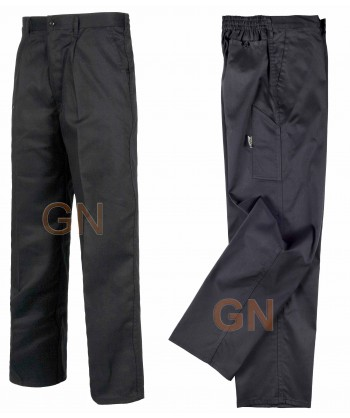 Pantalones rectos color negro