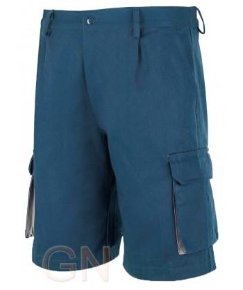 Pantalón bermuda combinado marino
