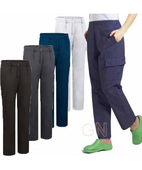 Pantalón multibolsillos para mujer