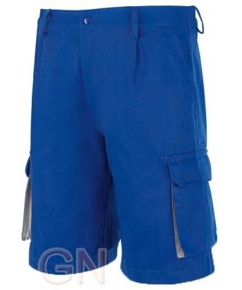 Pantalón bermuda combinado azulina